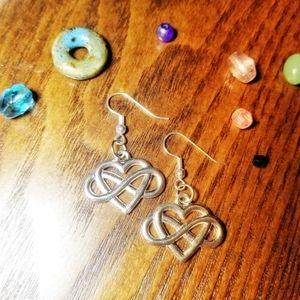 Infinity heart earrings